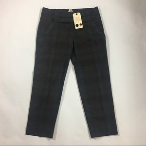 NWT Anthropologie- Brown/Grey Cropped Trousers